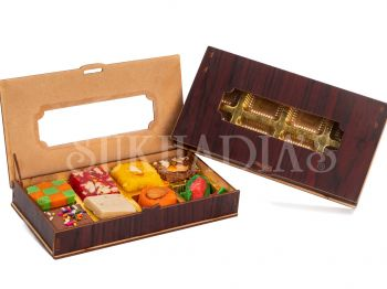 Wooden Pencil Box with Sweets