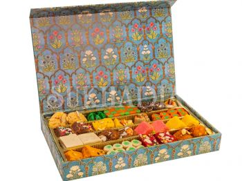 Festive Blue Assorted Sweets