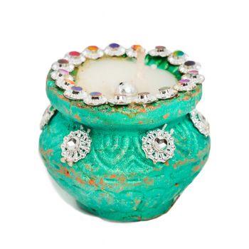 Jeweled Matki Diya