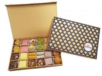 Wooden Checker, Sweets 24pc