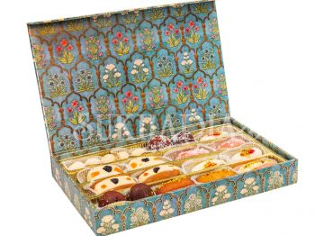 Festive Blue Bengali Sweets