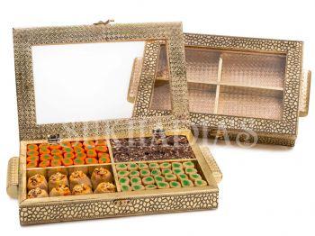 Antique Gold Mithai Box
