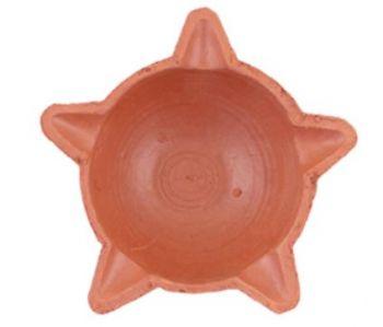 Star Clay Diya