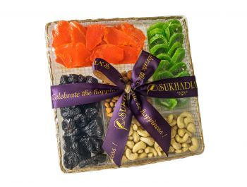 Golden Large Tray Dry Fruits