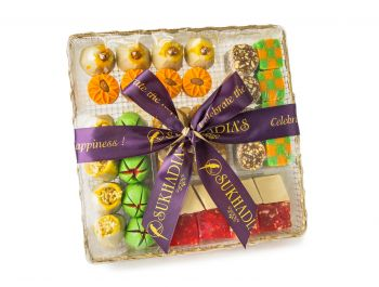 Golden Large Tray Sweets