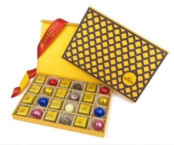 Wooden Checker, Assorted 24pc