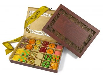 Wooden Royal Sweets 24pc
