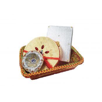 Bandhani Basket Combo with Diya