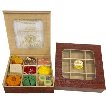 Wooden Royal Sweets, 9pc