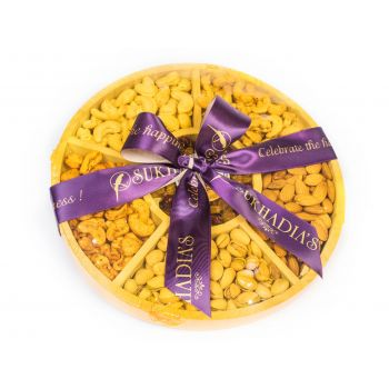 Wooden Round Dry Fruits